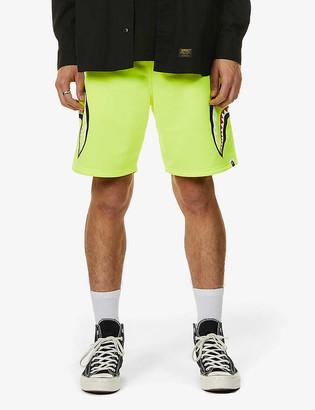 A Bathing Ape Shark-print jersey shorts