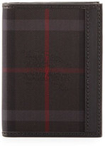 Burberry Elton Horseferry Check Wallet, Charcoal