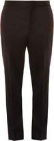 Givenchy Velvet side-trim slim-leg trousers