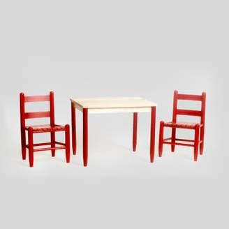 Harriet Bee Renard Wood Kids 3 Piece Activity Table and Chair Set Harriet Bee