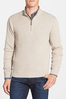 Nordstrom Ribbed Quarter Zip Sweater (Big)