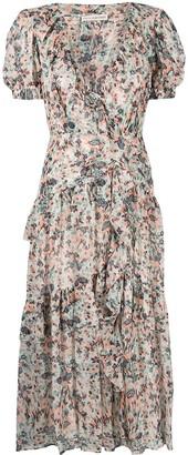 Ulla Johnson Delphine floral-print midi dress