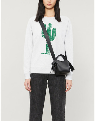 Bella Freud Cactus-print cotton-jersey sweatshirt