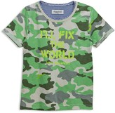 Sovereign Code Boys' I'll Fix the World Camouflage Tee