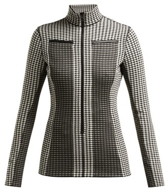 Proenza Schouler White Label Gingham Jersey Top - Black White