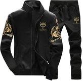Zaquarius Men's Fashion Jacket Athletic Baseball Tracksuit Sports Sets