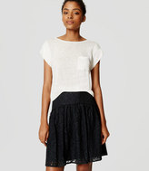 LOFT Mixed Lace Skirt