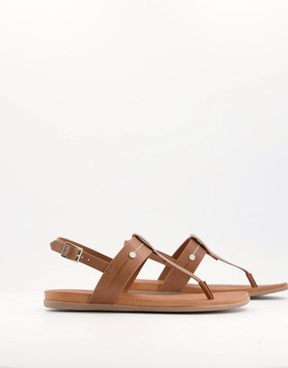 Call it SPRING sagee flat sandals in tan