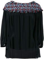 Sonia Rykiel knitted collar blouse
