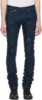 Diesel Black Gold Blue Splatter 2614 Jeans