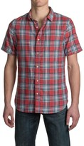 Jachs Single-Pocket Double-Faced Plaid Shirt - Short Sleeve (For Men)