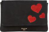 Dune Beautiee Foldover Clutch Bag, Black