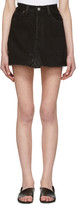 RE/DONE Black Denim High-Rise Miniskirt