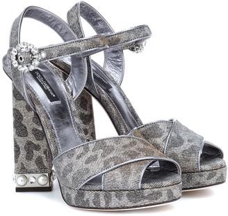 Dolce & Gabbana Leopard-print platform sandals