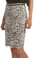 Trina Turk Sakura Blossom Lace Pencil Skirt
