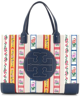Tory Burch Floral-Tape Tote