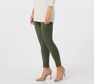 Women With Control Women with Control Regular Tummy Control Faux Suede and Ponte Leggings
