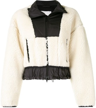 3.1 Phillip Lim Sherpa Bonded Cropped Jacket