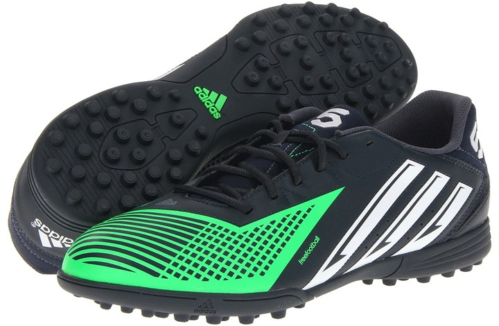 adidas freefootball X-ite TD (Tech Onix/Running White/Green Zest) - Footwear