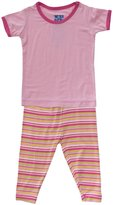 Kickee Pants Print Pajama Set (Baby) - Island Girl Stripe-Preemie
