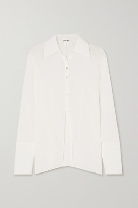 The Line By K Leomie Crinkled-voile Shirt - White