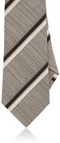 Isaia MEN'S STRIPED SILK-COTTON NECKTIE