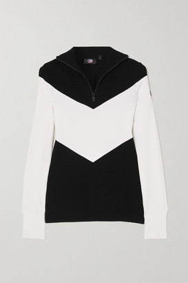 Fusalp Scarlett Two-tone Knitted Sweater - Black