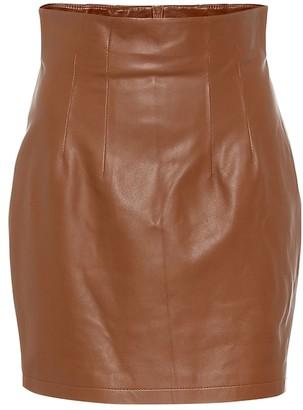 ZEYNEP ARCAY High-rise leather miniskirt