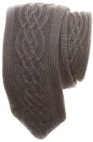 hook + ALBERT Men's Cable Knit Wool Tie