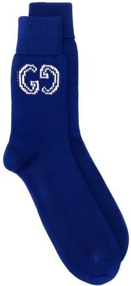 Gucci GG logo knitted socks