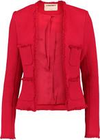L'Agence Jules fringed tweed jacket