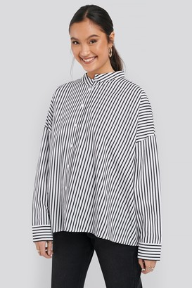 NA-KD Asymmetric Oversized Shirt White