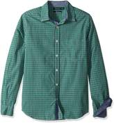 Nautica Men's Long Sleeve Classic Fit Plaid Button Down Shirt