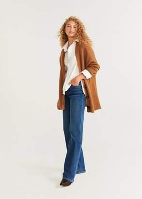 MANGO Button knit cardigan caramel - XS - Women