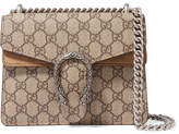 Gucci Dionysus Mini Printed Coated-canvas And Suede Shoulder Bag - Brown