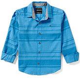 Calvin Klein Big Boys 8-20 Faded-Striped Woven Long-Sleeve Shirt