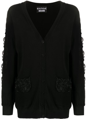 Boutique Moschino Knitted Crochet Sleeve Cardigan