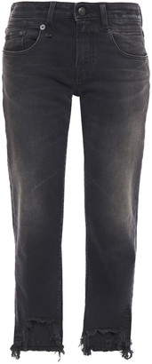 R 13 Maura Distressed Mid-rise Straight-leg Jeans