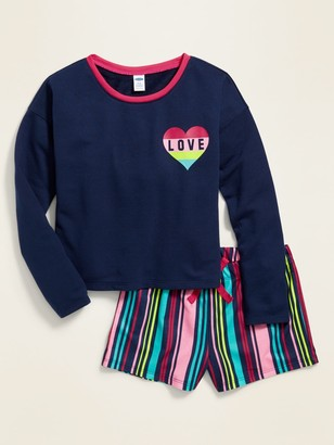 Old Navy Printed French Terry Pajama Set for Girls