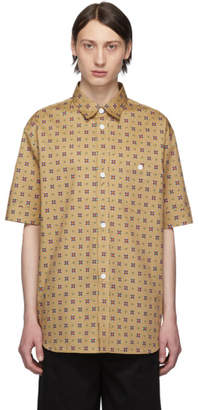 Kenzo Beige Medallions Casual Short Sleeve Shirt