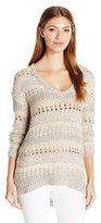 Lucky Brand Women's Mixed Stitch Tunic Sweater