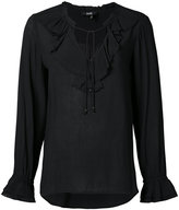 Paige ruffled neck blouse - women - Rayon - XS