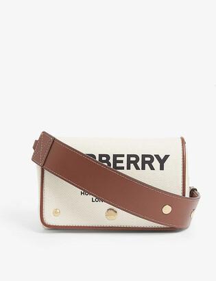 Burberry Hackberry medium canvas shoulder bag