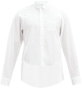 Comme des Garçons Shirt Front Cropped-hem Cotton-poplin Shirt - White