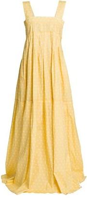 Plan C Sleeveless Polka Dot Maxi Dress