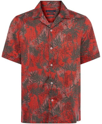French Connection Dione Palm Tree Print Shirt