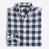 J.Crew Factory Slim linen shirt in plaid