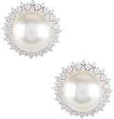 Nadri Cubic Zirconia & Pearl Clip-On Stud Earrings