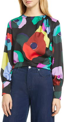 Kate Spade Floral Collage Blouse