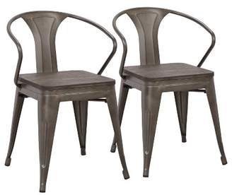 Lumisource Set of 2 Waco Industrial Chairs